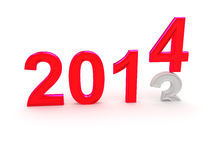 Happy New Year 2014. 3d Stock Photos