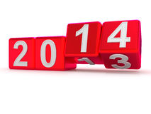 Happy New Year 2014. 3d Stock Photography