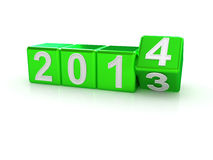 Happy New Year 2014. 3d Royalty Free Stock Images