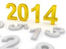 Happy New Year 2014. 3d Royalty Free Stock Photos