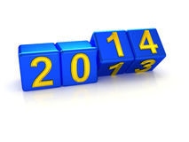 Happy New Year 2014. 3d Stock Photo
