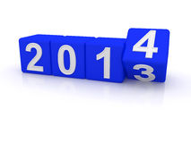 Happy New Year 2014. 3d Royalty Free Stock Photos