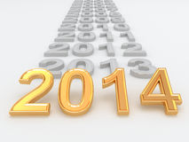 Happy New Year 2014. 3d Stock Photo