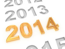 Happy New Year 2014. 3d Stock Images