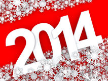 Happy New Year 2014. 3d Royalty Free Stock Photography