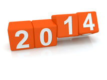 Happy New Year 2014. 3d Royalty Free Stock Image