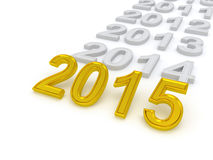 Happy New Year 2015 Stock Photo