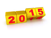 Happy New Year 2015. Stock Photo