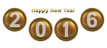 Happy New Year 2016. 3d vector illustration