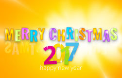 2017 happy new year 3D background. Graphic illustration dsign Stock Photography