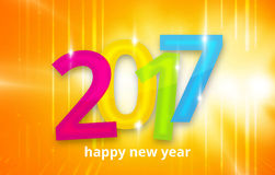 2017 happy new year 3D background. Graphic illustration design Stock Images