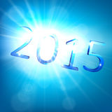 Happy new year 2015. 3d blue 2015 happy new year design. Vector illustration Stock Images