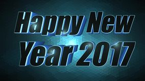 Happy New Year 2017 - 3D Blue Text stock video footage