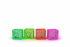 Happy New Year 2015. 3d cubes with number two thousand fifteen Stock Photo