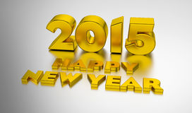 Happy New Year 2015. 3D design template on the light background Stock Photography