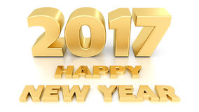 Happy New Year 2017. 3D design stock illustration