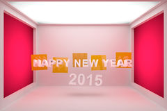 Happy New Year 2015 3D Stock Photography