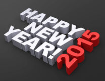 HAPPY NEW YEAR 2015. 3d generated picture of a year 2015 concept Royalty Free Stock Images