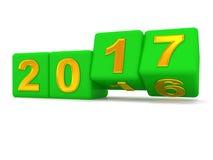 Happy New Year 2017. Stock Photos