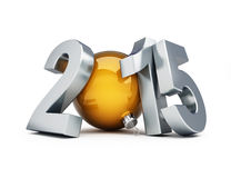 Happy new year 2015 3d Illustrations. On a white background Stock Photos