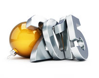Happy new year 2015. 3d Illustrations Royalty Free Stock Images