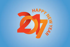 Happy New Year 3d looking blue background Royalty Free Stock Images