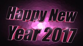 Happy New Year 2017 - 3D Pink Text stock footage