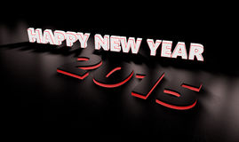 Happy new year. 2015. 3D rander with space for your own text Stock Image