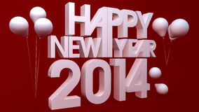 Happy new year 2014. 3d render Stock Images