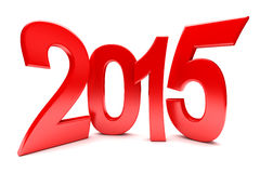 Happy New Year - 2015. 3d render Stock Image