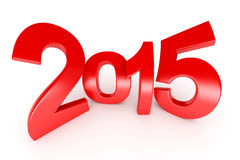 Happy New Year - 2015. Happy New Year - 3d render stock illustration