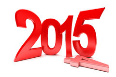 Happy New Year - 2015. 3d render Royalty Free Stock Photography