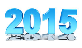 Happy New Year - 2015. 3d render Royalty Free Stock Images