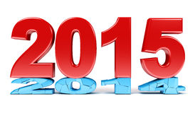 Happy New Year - 2015. 3d render Stock Photos