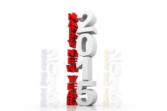 Happy new year 2015. 3d render of Happy new year 2015 Royalty Free Stock Image