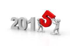 Happy new year 2015. 3d render of Happy new year 2015 Stock Image