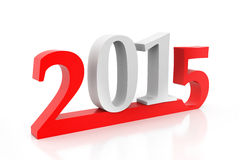 Happy new year 2015. 3d render of Happy new year 2015 Stock Images
