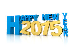 Happy new year 2015. 3d render of Happy new year 2015 Royalty Free Stock Photos