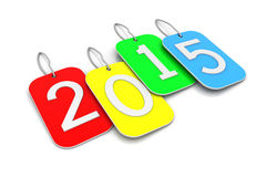 Happy new year 2015. 3d render of Happy new year 2015 Stock Photo