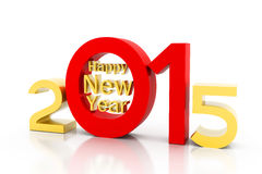 Happy new year 2015. 3d render of Happy new year 2015 Royalty Free Stock Images