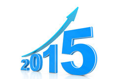 Happy new year 2015. 3d render of Happy new year 2015 Royalty Free Stock Photography