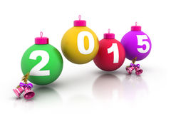 Happy new year 2015. 3d render of Happy new year 2015 Royalty Free Stock Photo