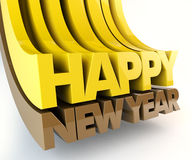 Happy New Year. 3d Render Stock Photography