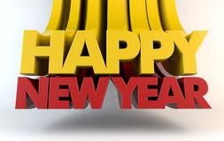 Happy New Year. 3d Render Royalty Free Stock Image