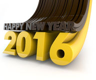 Happy New Year 2016. 3d Render Stock Photos