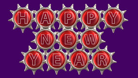 Happy New Year. 3d render stock illustration