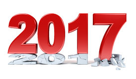 Happy New Year - 2017. 3d render Royalty Free Stock Images