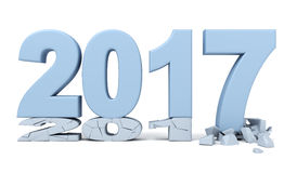 Happy New Year - 2017. 3d render Stock Image