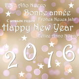 Happy new year 2016 - 3D render Royalty Free Stock Photography