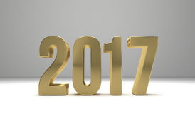 2017 happy new year 3d render. Graphic Stock Photo